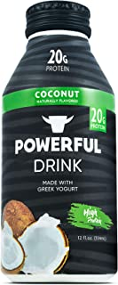 Powerful High Protein, Meal Replacement, Greek Yogurt Drink, Gluten-Free, Natural Ingredients, Kosher, 20g Protein, Coconut (12 count)