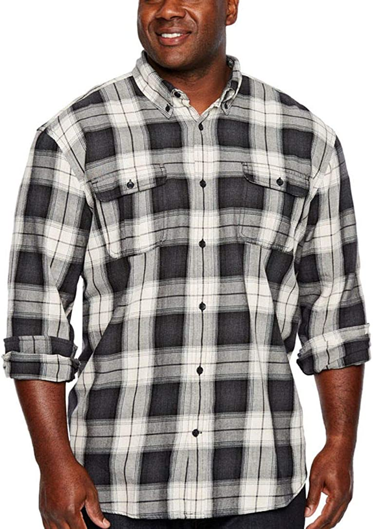 The Foundry Supply Men's Classic Fit Long Sleeve Shirt 2 Chest Pockets