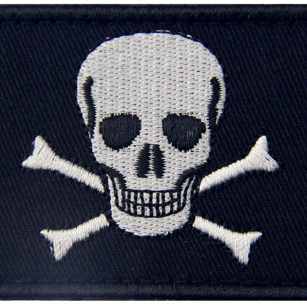 Bandera pirata de Jolly Roger Broche Bordado de Gancho y Parche de ...