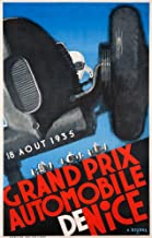 Grand Prix Automobile de Nice Vintage Poster (artist: Delval) France c. 1935 58278 (24x36 SIGNED Print Master Art Print - Wall Decor Poster)