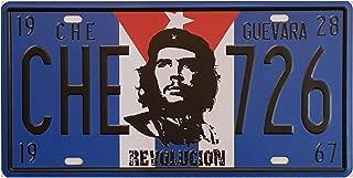 DiiliHiiri Plaque dimmatriculation Che Guevara Style r/étro d/écoration Maison