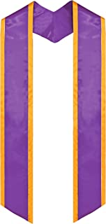 Plain Graduation Honor Stole Angled End With Trim Unisex Adult 72