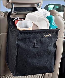 High Road TrashStash Hanging Car Trash Bag with Leakproof Lining and Spring Frame Closure