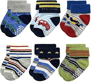 Baby Socks for Infant Toddler Boys Cotton 6-12 Months