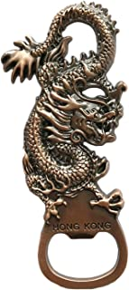 Wedare香港中国3Dドラゴン冷蔵庫マグネット栓抜き観光のお土産コレクション、香港磁気ステッカー冷蔵庫マグネットビールオープナー