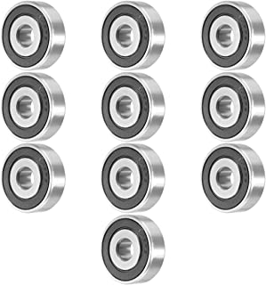 Aexit 10pcs 638RS Transmission Parts 8mmx28mmx9mm Double Sealed Miniature Deep Groove Ball Bearing Model:19as105qo739
