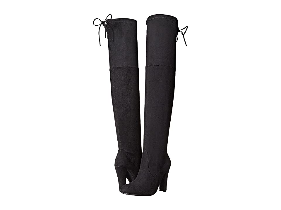 Steve Madden Gorgeous Knee Boot (Black) Women