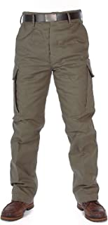 Olive Green Moleskin Thermal Trousers
