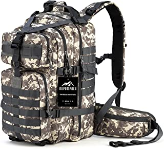 RUPUMPACK Military Tactical Backpack, Hydration Backpack, Army Molle Bag, 3-Day Rucksack Outdoor Hunting Trekking School, 33L