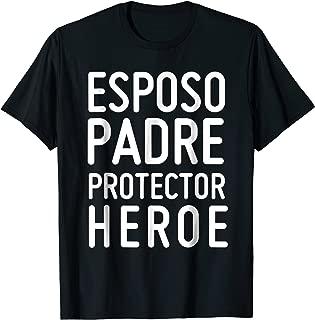 Mens Esposo Padre Protector Heroe - Camiseta Regalo Dia del Padre