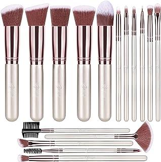 BESTOPE Makeup Brushes 16 PCs Makeup Brush Set Premium Synthetic Foundation Brush Blending Face Powder Blush Concealers Ey...