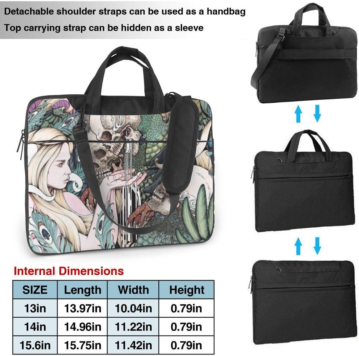 Laptop Shoulder Bag 13 Inch Skull Motorcycle Briefcase Protective Bag