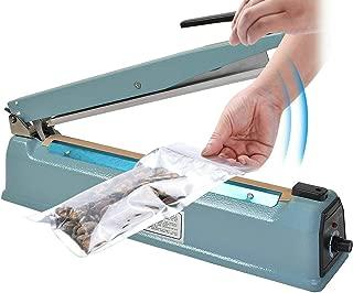 Goplus 12 inch Impulse Manual Bag Sealer, Poly Plastic Bag Sealing Machine, Heat Seal Closer 2X Teflon Sealer