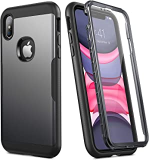 YOUMAKER [2020 Upgraded] iPhone Xs Max Case, Full Body Rugged with Built-in Screen Protector Heavy Duty Protection Slim Fi...