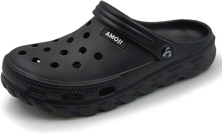 Zoccoli da giardino scarpe sandali pantofole aa1521 amoji  B08DK87VYN simil crocs
