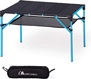 MOON LENCE Lightweight Portable Camping Table Compact Outdoor Aluminum Folding Table for Picnic Climbing … (Table (Blue Legs))