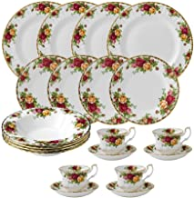 Royal Albert Old Country Roses 20 Piece Dinnerware Set, White