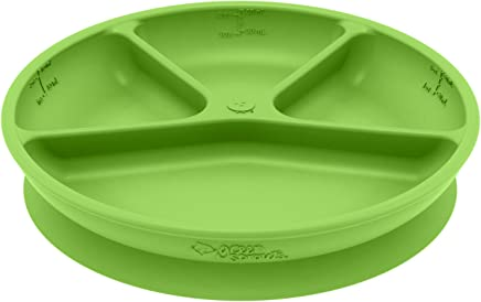 Preisvergleich für Green Sprouts–Silikon Saugnapf Esslernteller unterteilt–Grün