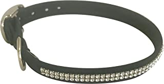 "Glamour Girl 2 row Collar, Black L 13-14 1/2"""