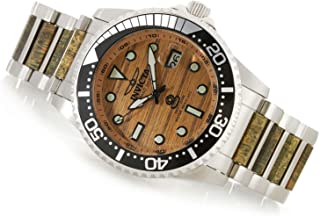 Women's Grand Diver TEAK WOOD Woody NH35A Automatic SS Watch