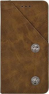 ZhiYueQun Gel シリコーン TPU Silicone レザー スマホ ケース 保護 純正 カバー ケース Meizu 16T Genuine レザー 耐汚れ 保護 手帳 財布型 レザー ウォレット 上質 ブラウン