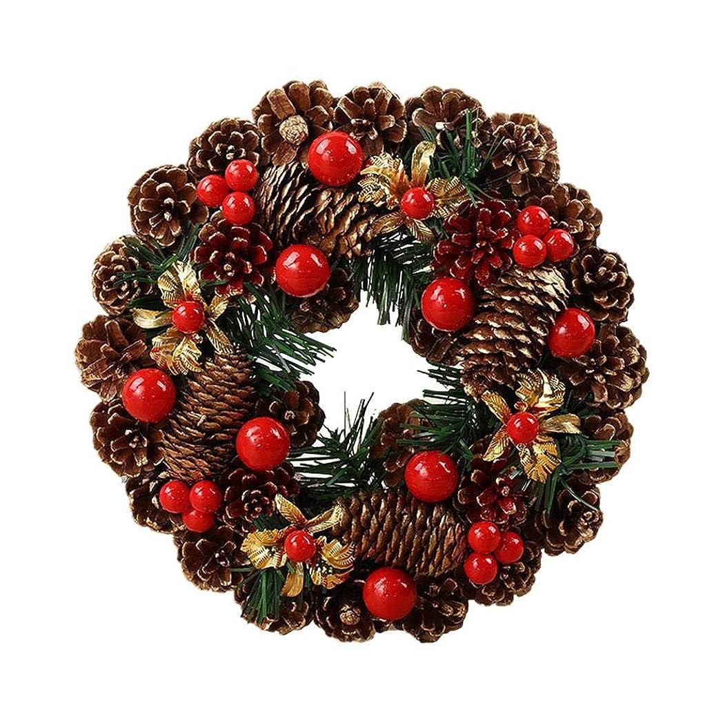 狂う合理的信者Hotchoice 人工クリスマスリース手作りガーランドドア吊り装飾用品クリスマスパーティーショッピングモールウィンドウ popular