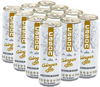 CASON Beverage | Ginger Ale | Naturally Flavored Sparkling Water Drink | Healthy Alternative to Pop, Soda, and Juice | Keto-Friendly, Gluten-Free, Sugar-Free, Vegan, Low Calorie, Diabetic, 12 Pack