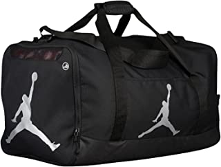 Air Jordan Jumpman Duffel Sports Gym Bag Black/Silver 8A1913-023 Wet/Dry Shoe Pocket Water Resistant