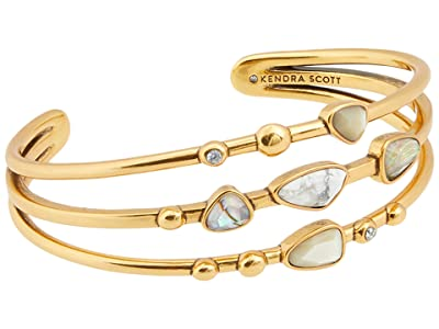 Kendra Scott Ivy Statement Bracelet (Vintage Gold White Mix) Bracelet