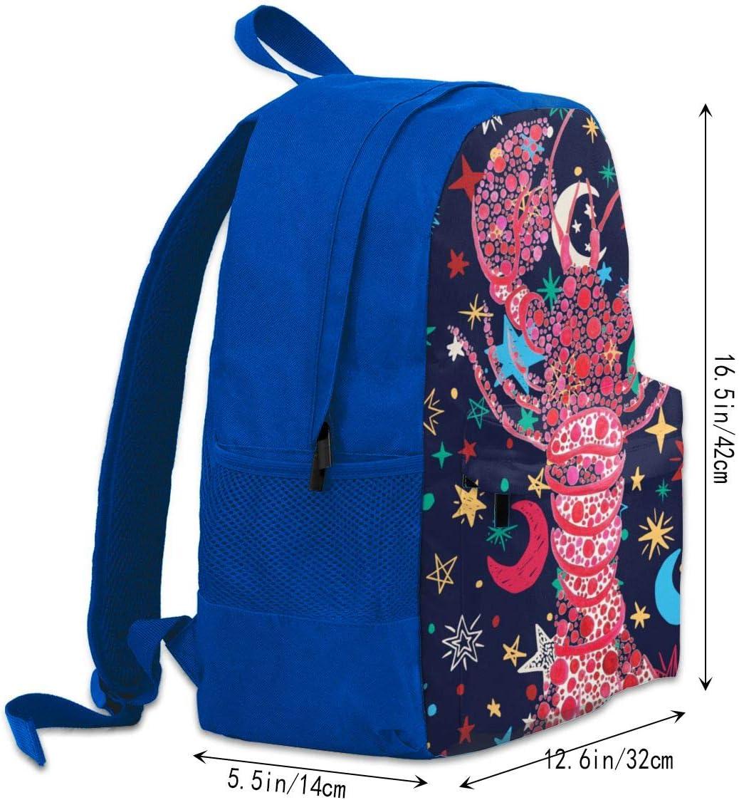 Lobster School College Backpack Large Capacity Retro Laptop ...