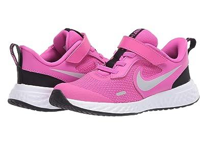 Nike Kids Revolution 5 (Little Kid) (Active Fuchsia/Metallic Silver/Black) Girls Shoes