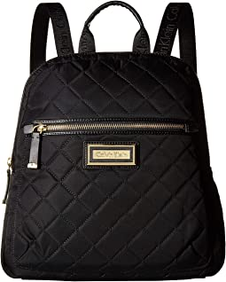 Quilted Nylon Key Item Backpack