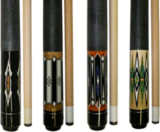 """Lot of 4-58"""" 2 Piece Hardwood Canadian Maple Pool Cue Billiard Table Stick 18-21 Oz with Steel Joint"""