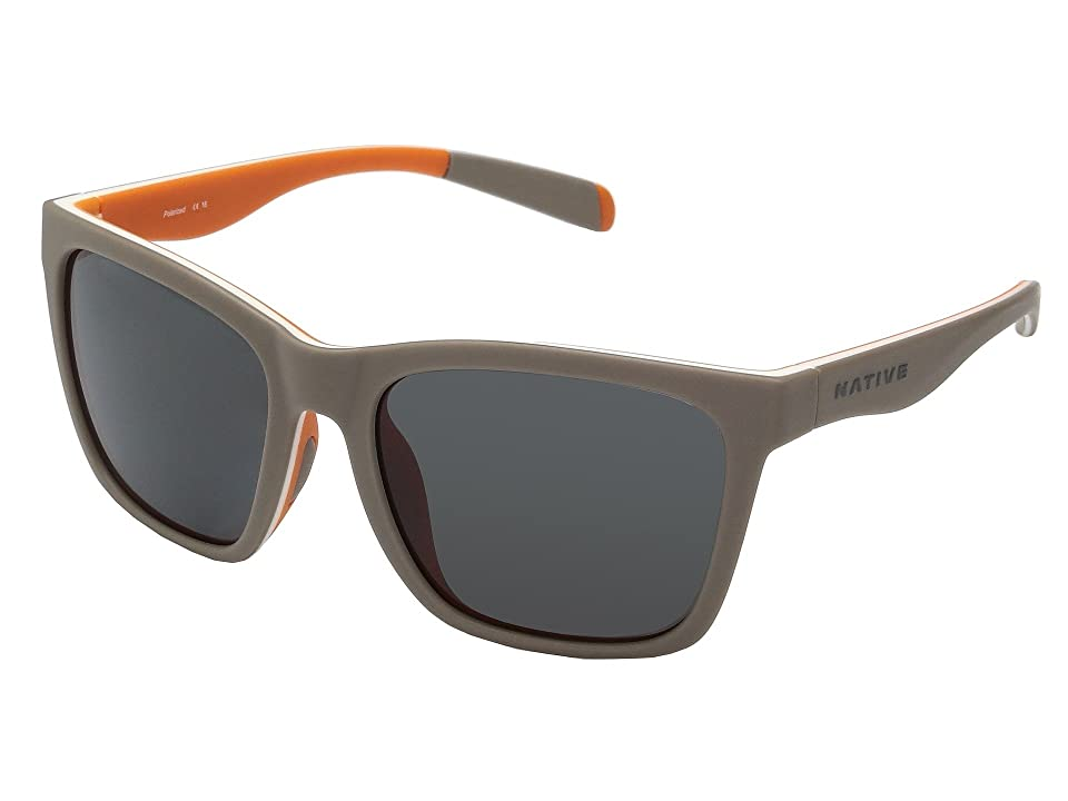 Native Eyewear Braiden (Matte Gray/White/Peach) Sport Sunglasses