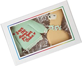 """25 Pack Cookie Boxes With Window By Cookie Cutter Kingdom - Standard 7"""" x 4.375"""" x 1.25"""" - Rainbow Trim Bulk Pastry Boxes - Multipurpose Bakery Boxes With Window - Wedding Cookie Boxes Bulk And Treat Boxes Party Favors"""