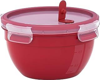 Emsa N1060500 Clip & Micro Recipiente para microondas, Rojo, Redondo