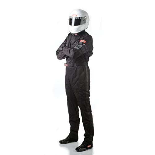 Racequip Racing Suit 110003; 110-Series SFI 3.2A//1 Medium Single Layer Black