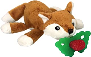 RaZbaby RaZbuddy RaZberry Teether/Pacifier Holder w/Removable Baby Teether Toy - 0M+ - Bpa Free - Fox