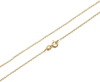 Gold Plated Sterling Silver Cable Chain
