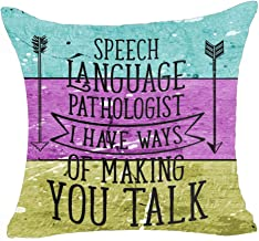 Queen's designer Arrows Speech Language Pathologist I Have Ways of Making You Talk Colorful Background Cotton Linen Decorative Throw Pillow Case Cushion Cover Square 18 X18 (E)