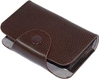 Storite 13 Slots PU Leather Credit Card Holder Wallet (10.5 x 7.5 x 2.5 cm) (Brown)