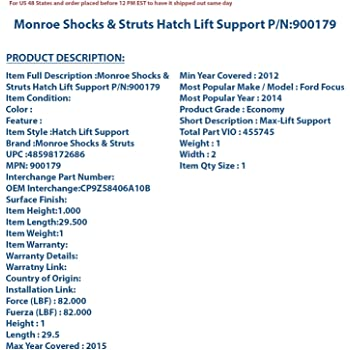 Max-Lift 900199 Lift Support