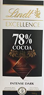 Lindt Excellence Dark 78% Cocoa Chocolate, 100 gm (Pack of 1)