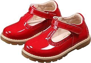 PPXID Enfant Automne Chaussure à Fond Plat Vernis bébé Chaussure de Princesse pour Les Petites Filles