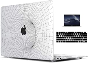 TwoL Transparent 3D Tunnel Grid Hard Shell Case & Keyboard Cover & Screen Protector for New MacBook Air 13 inch Retina 2018 2019 Release Model:A1932