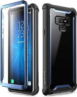 i-BLASON Samsung Galaxy Note 9 ケース 液晶内置フィルム付き 全面保護 背面クリアカバ- [Ares Series]