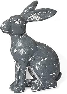 Easter Bunny Decorations Figures Resin Rabbit Garden Statue Outdoor Figurines Distressed Lawn Yard Decor Grey