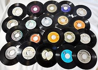 "Genuine Record Decorations Set Of 25 45 RPM, 7"" Vinyl Records Party Decorations, Arts And Crafts Supplies Vintag Retro Home Decor"