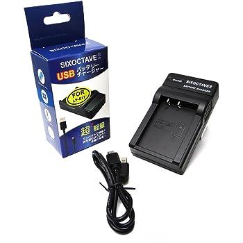 [SIXOCTAVE] Canon LP-E17 急速互換充電器USBカメラ バッテリー チャージャー LC-E17 純正バッテリーにも充電可能 EOS 8000D, EOS kiss X8i, EOS M3 カメラ対応
