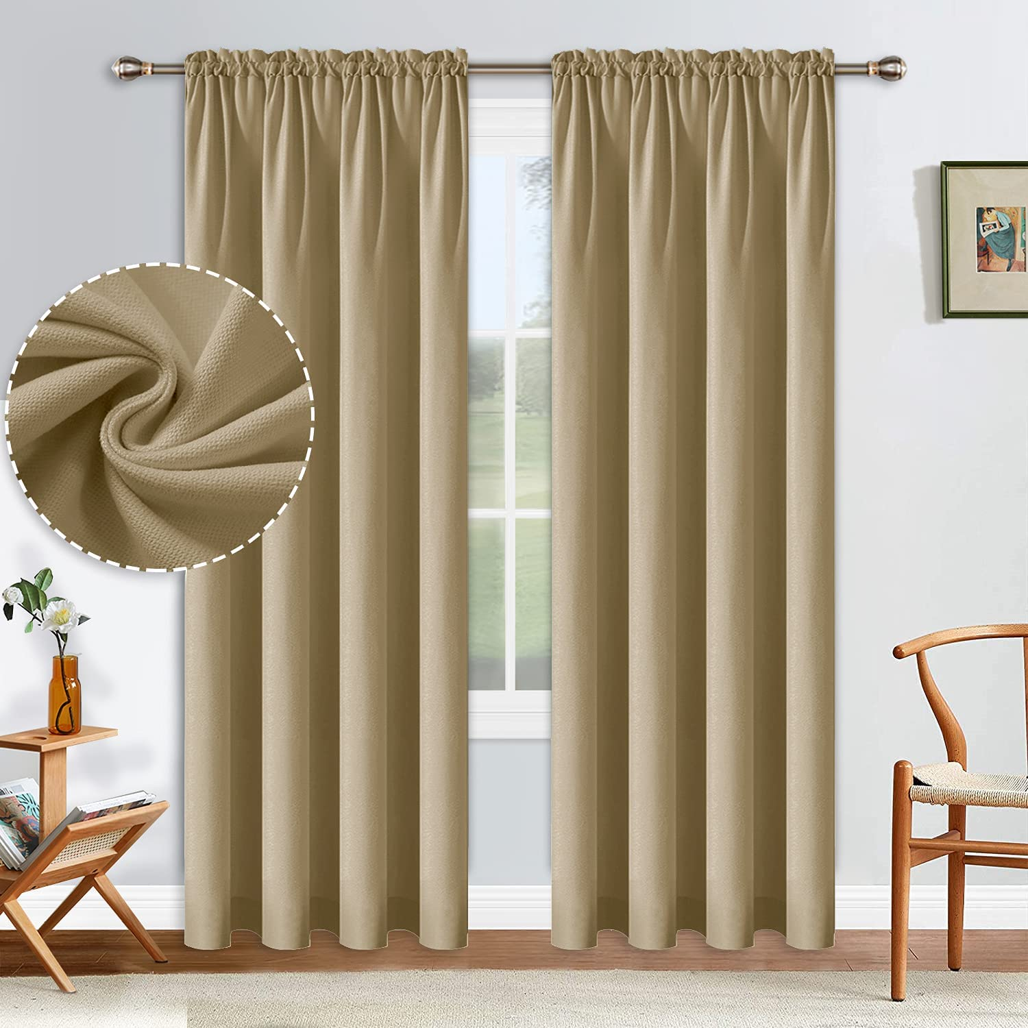ALLJOY 84 Cheap mail order sales Inches Long Room Popular products Thermal Curtains Insulated Darkening